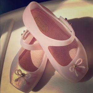 Mini Melissa Pink Ballet Flats